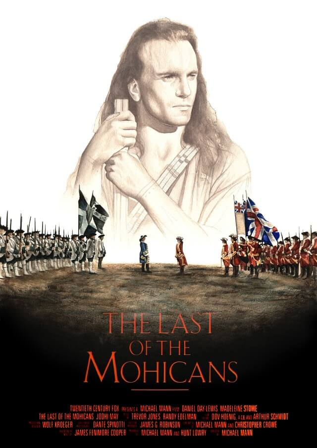 Iconic Movie Poster Remakes: The Last of the Mohicans (1992) Poster by Davide Morettini, Italy
