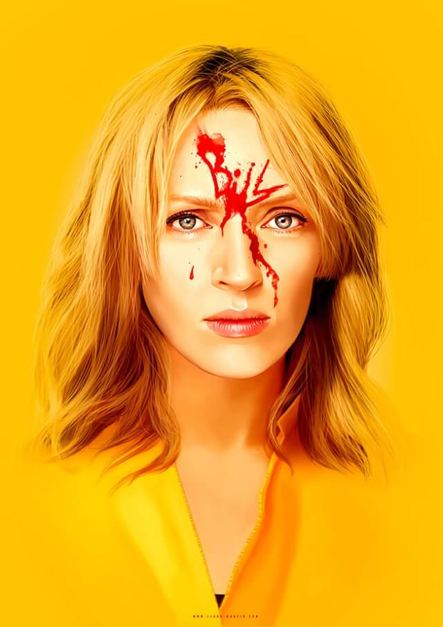 Iconic Movie Poster Remakes: Kill Bill: Vol. 1 (2003) Poster by Flore Maquin, France