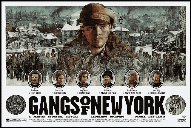 Iconic Movie Poster Remakes: Gangs of New York (2002) Poster by Krzysztof Domaradzki, France