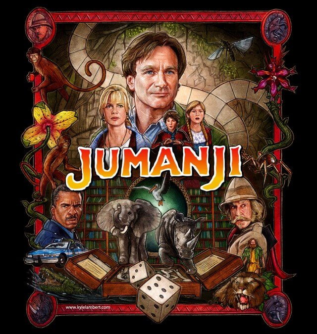 Iconic Movie Poster Remakes: Jumanji (1995) Poster by Kyle Lambert, USA