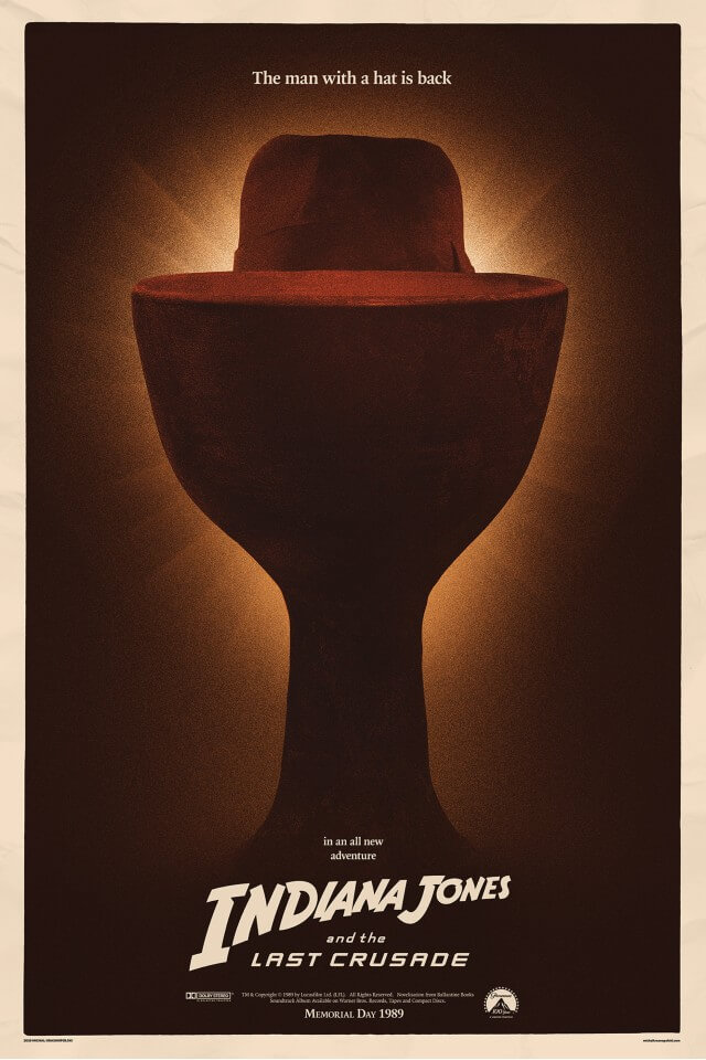 Iconic Movie Poster Remakes: Indiana Jones and the Last Crusade (1989) Poster by Michal Krasnopolski, Poland