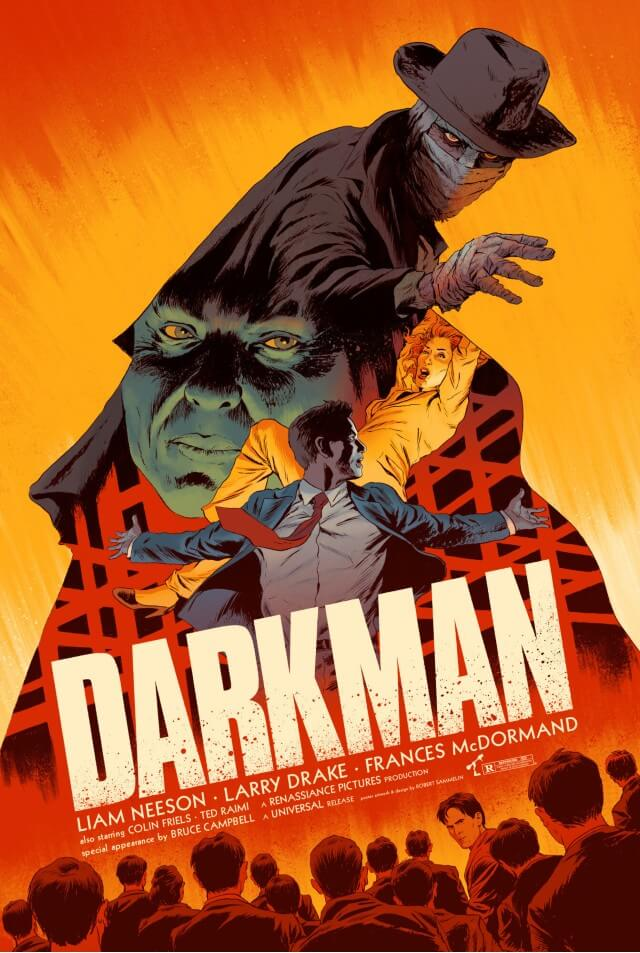 Iconic Movie Poster Remakes: Darkman (1990) Poster by Robert Sammelin, Sweden