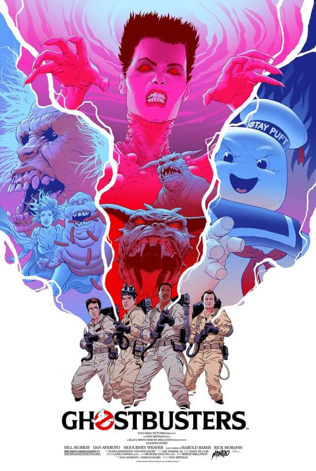Iconic Movie Poster Remakes: Ghostbusters (1984) Poster by Robert Sammelin, Sweden