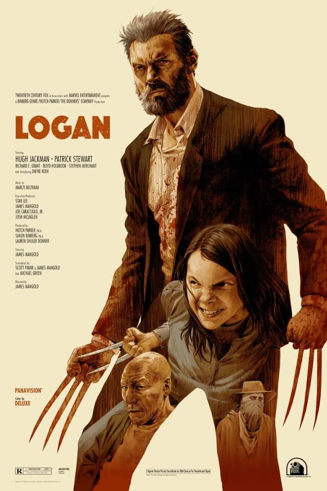 Iconic Movie Poster Remakes: Logan (2017) Poster by Robert Sammelin, Sweden