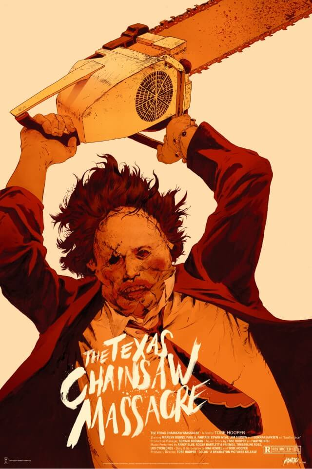 Iconic Movie Poster Remakes: The Texas Chain Saw Massacre (1974) Poster by Robert Sammelin, Sweden