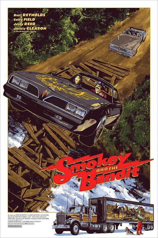 Iconic Movie Poster Remakes: Smokey and the Bandit (1977) Poster by Benjamin Terdik, UK