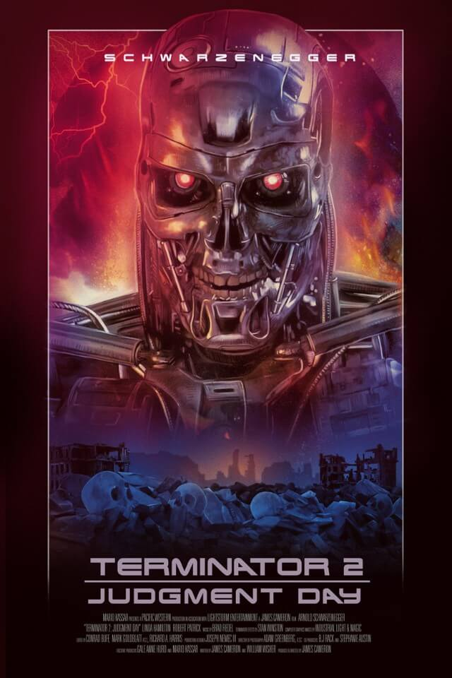 Iconic Movie Poster Remakes: Terminator 2: Judgment Day (1991) Poster by Rich Davies, UK