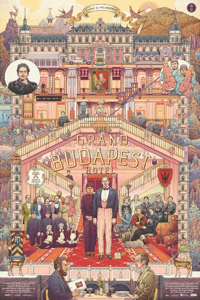 Iconic Movie Poster Remakes: The Grand Budapest Hotel (2014) Poster by Ise Ananphada, Thailand