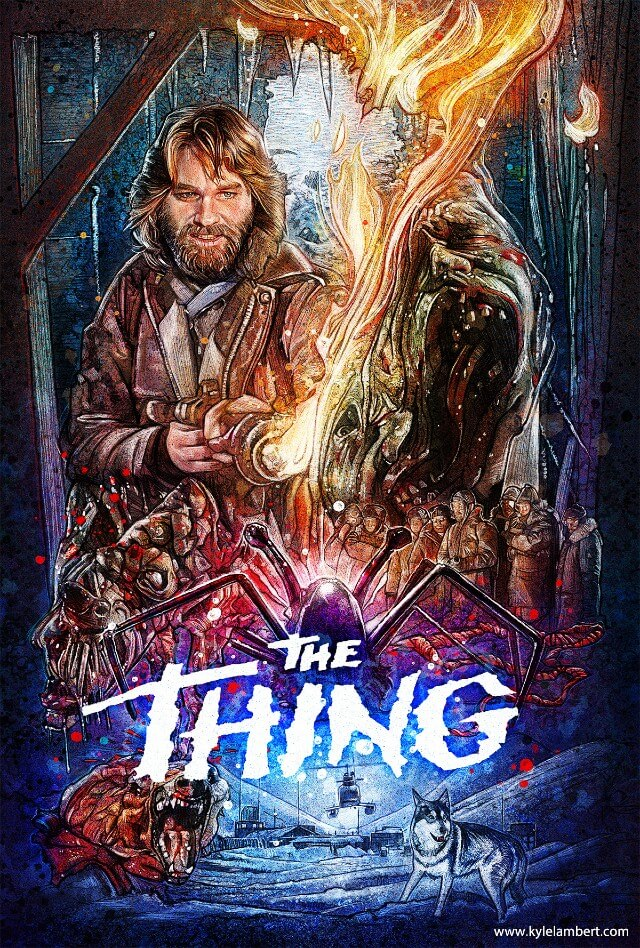 Iconic Movie Poster Remakes: The Thing (1982) Poster by Kyle Lambert, USA
