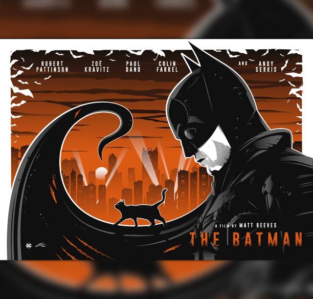 Iconic Movie Poster Remakes: The Batman (2021) Movie Poster by Julien Rico Jr, France