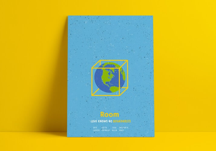 Iconic Movie Poster Remakes: Room (2015) Poster by Emma Bevan, UK
