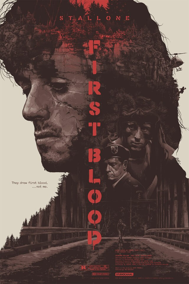 Iconic Movie Poster Remakes: First Blood (1982) Poster by Grzegorz Domaradzki, Poland