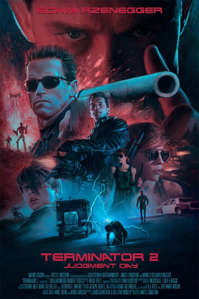 Iconic Movie Poster Remakes: Terminator 2: Judgment Day (1991) Poster by Ignacio RC, Spain