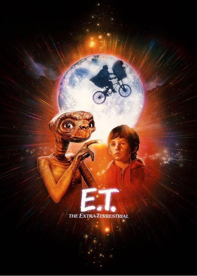 Iconic Movie Poster Remakes: E.T. the Extra-Terrestrial (1982) Poster by Paul Shipper, UK