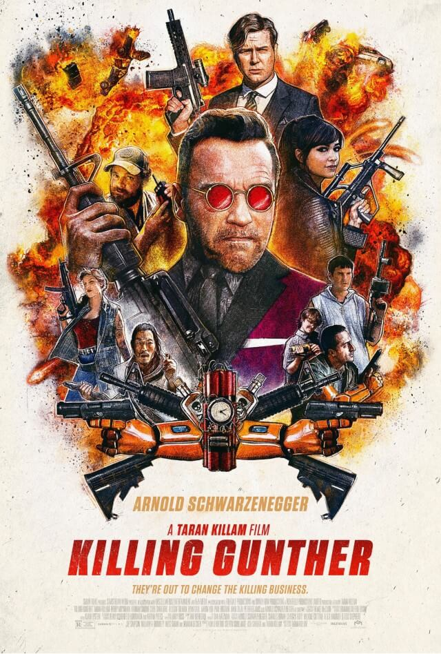 Iconic Movie Poster Remakes: Killing Gunther (2017) Poster by Paul Shipper, UK