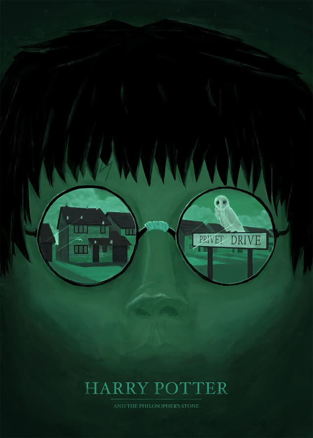 Iconic Movie Poster Remakes: Harry Potter and the Philosopher's Stone (2001) Poster by Petter Schölander, Sweden