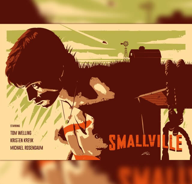 Iconic Movie Poster Remakes: Smallville TV Series (2001 - 2011) Movie Poster by Julien Rico Jr, France