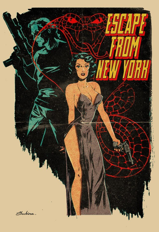 Iconic Movie Poster Remakes: Escape from New York (1981) Poster by Sveta Shubina, Russia