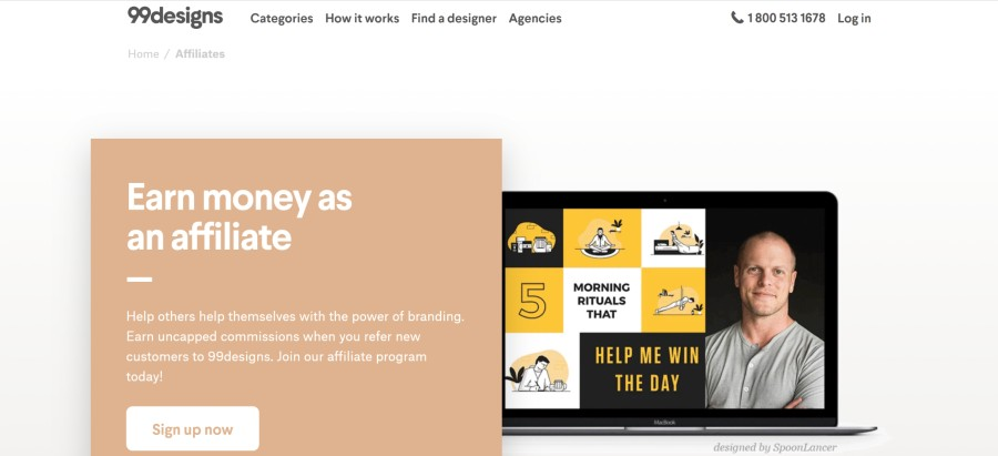99designs Affiliate Program on 25 Best Gig Economy App Affiliate Programs for 2021 by Huntlancer