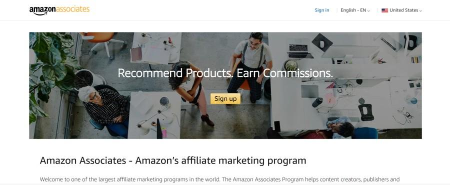 Amazon Associates Program on 25 Best Gig Economy App Affiliate Programs for 2021 by Huntlancer