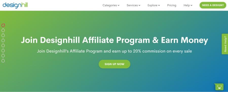 Designhill Affiliate Program on 25 Best Gig Economy App Affiliate Programs for 2021 by Huntlancer