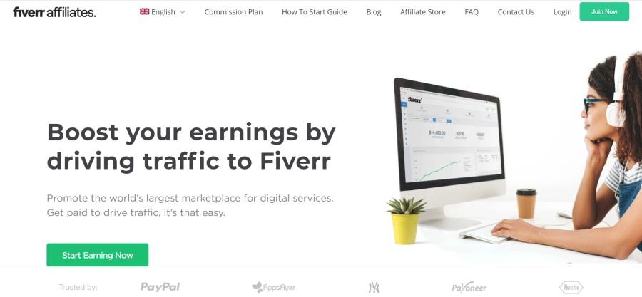 Fiverr Affiliate Program on 25 Best Gig Economy App Affiliate Programs for 2021 by Huntlancer