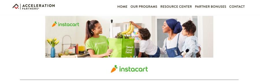Instacart Affiliate Program on 25 Best Gig Economy App Affiliate Programs for 2021 by Huntlancer