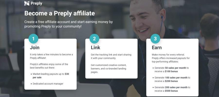Preply Affiliate Program on 25 Best Gig Economy App Affiliate Programs for 2021 by Huntlancer