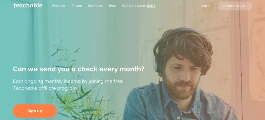 Teachable Affiliate Program on 25 Best Gig Economy App Affiliate Programs for 2021 by Huntlancer