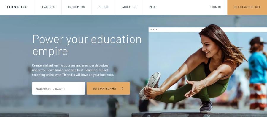 Thinkific Affiliate Program on 25 Best Gig Economy App Affiliate Programs for 2021 by Huntlancer