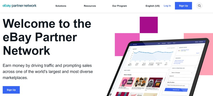 eBay Affiliate Program on 25 Best Gig Economy App Affiliate Programs for 2021 by Huntlancer