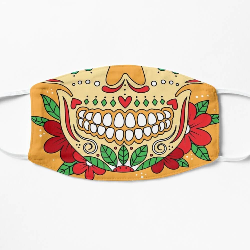 Creative face mask designs by artists on Fiverr    Dia de los muertos Face Mask design.