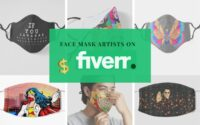 We paid artists on Fiverr to come up with creative face mask designs