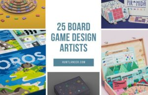 Board game design artists on Huntlancer