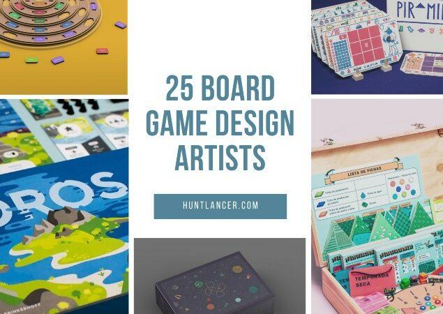 Board game design artists on Huntlancer