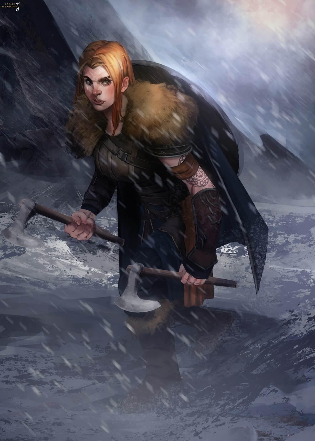 'Siren of the Mountains' by Carlos Betancourt, Venezuela   Viking Warrior Challenge by Huntlancer